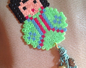 Jewellery of bag charm kodeshi in pearls hama tiny and bobble of pearls