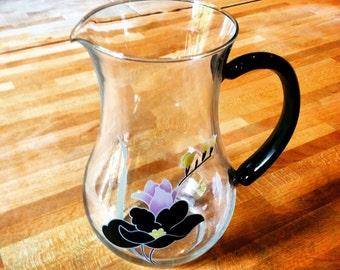 Large Art Deco style glass jug