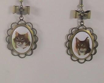 Fanceh Kitteh Earrings