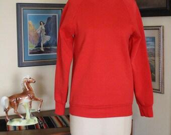 1980's Fruit Of The Loom Red Sweatshirt