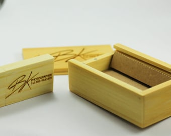 Bamboo flash drive with your logo laser 16 GB