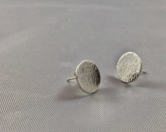 Circle earrings in Sterling silver - two sizes available