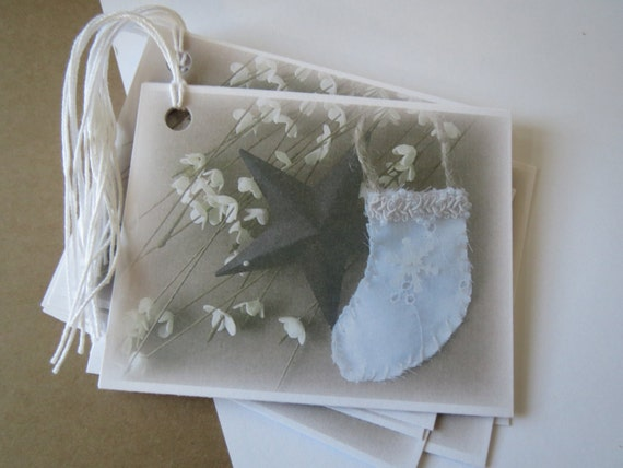 Christmas Photo Gift Tags/Vintage/Rustic/Country