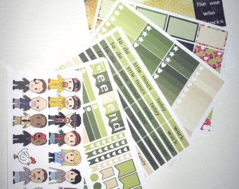 I Am the One Who Knocks - Full Week Planner Sticker Kit