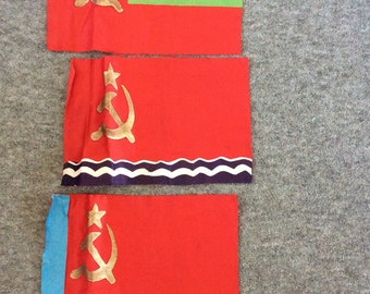 A Set of 3 Soviet Banners
