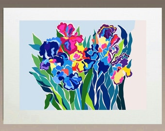 Art Print - Floating Irises