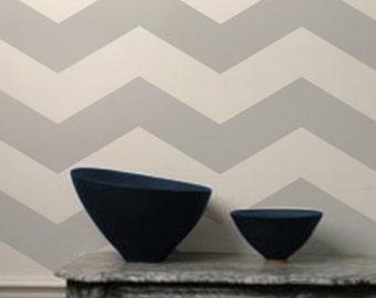 Wall Stencil Geometric 012 Chevron 1