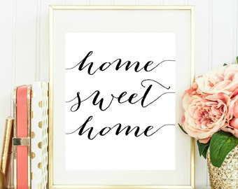 Home Sweet Home Printable, Home Sweet Home Print, Home Wall Art, New Home Gift, Home Sweet Home Sign, Home Printable, Home Wall Decor