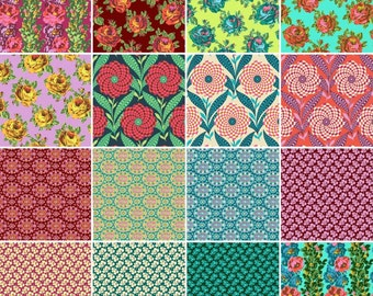Eternal Sunshine Collection Bundle by Amy Butler - Cotton Quilting Fabric - 16 Fabrics
