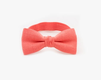 Kids Bow Tie Coral Bow Tie Baby Bow Tie Father Son Matching Bow Ties Boys Bow Tie