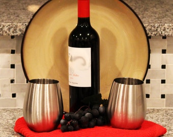 Stainless Steel Stemless Wine Glasses (Set of 2)