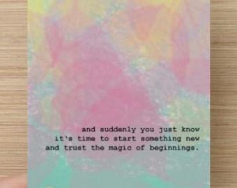 """Postcard - """"Magic of beginnings"""""""