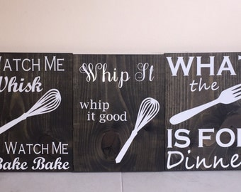 Clever kitchen signs