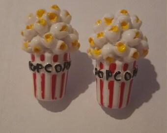 Kawaii Popcorn Earrings