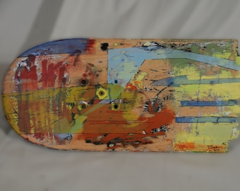 "3 piece Hand Painted SKATEBOARD Art -- ""The Resolve of Love"""