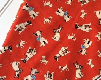 Michael-Miller-Fabric-By-The-Yard-Rufus-Dogs-Red-Cotton-Quilting-Fat-Quarters-Sewing-DIY-Projects-Crafts-Supplies
