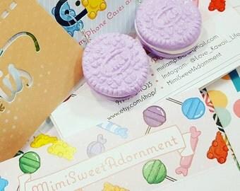 Sweet Cream Cookie Earrings