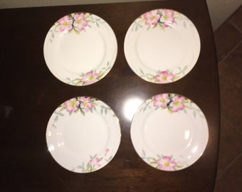 Noritake Azalea 7.5 inch pie plates, set of four, distributed by Larkin