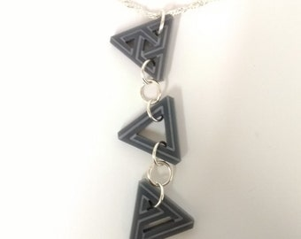 Geometric triangle charm for necklace