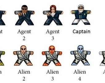 10 Labels for Meeples (Space/Aliens/MiB)
