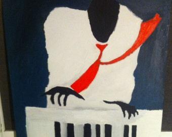 Jazz player paint Acrylics 40x40 original