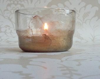 Gold marble effect tealight holder