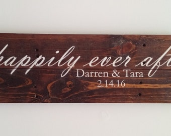 Happily Ever After Reclaimed Wood Sign