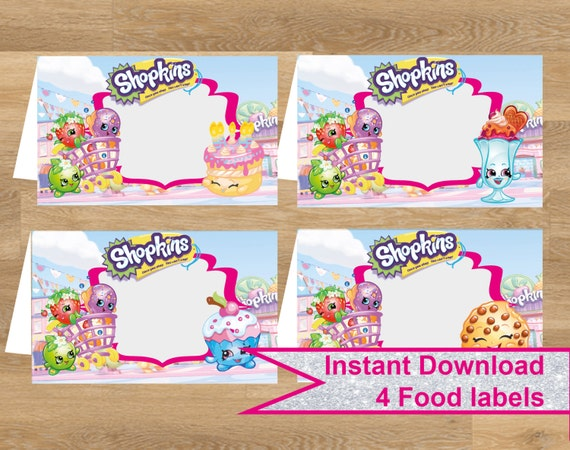 It is a graphic of Bewitching Free Printable Shopkins Food Labels