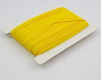 5, 10, 50, 100 meters of cotton cord 4 mm yellow