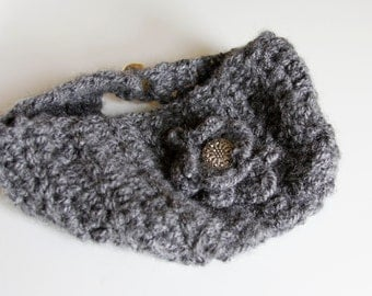 Crochet earwarmer headband