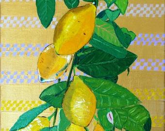 Painting lemon tree/painting lemon tree