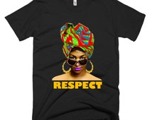 Rock Steady Tee Graphic Tee Pop Culture Music Aretha Franklin Icon Africa Clothing African Shirts African Headwrap Unisex Tees