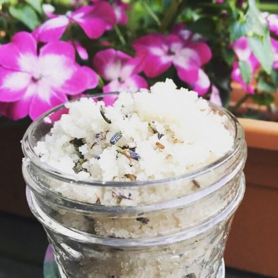Organic Lavender Vanilla Sugar Scrub by Handmadewithlovebykm
