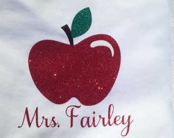 Personalized Teacher Shirt - Ladies V-Neck