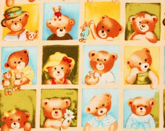 Teddy Bear Fabric by Ro Gregg, Flannel Northcott by the Half Yard