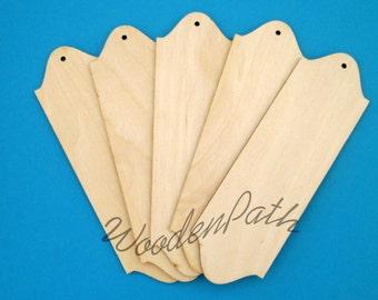 Decoupage! Set of 5 plain bookmarks