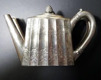 Godinger Silver Teapot Napkin or Note Holder