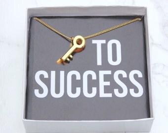Key Emoji Necklace, Key Necklace, Golden Key Necklace, 24K Gold Key Emoji, Silver Key Necklace, Key to Success
