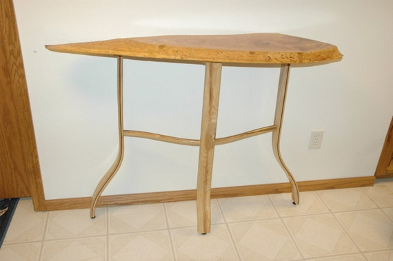 Live Edge Foyer Table : Live edge cherry entryway table