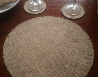 Hessian Placemats Etsy