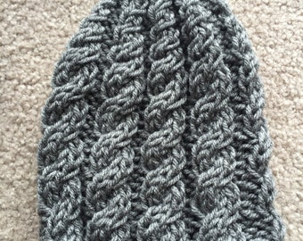 Knit Cable Hat - Adult & Kid Size