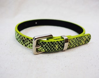 Yellow Black Snake Recycled Bracelet/Cuff for your Scarf