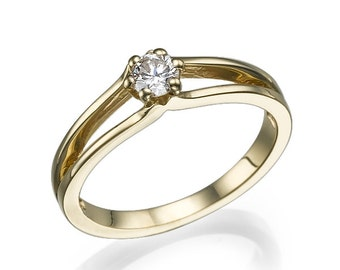 Engagement ring simple and beautiful with a diamond of 0.22 ct