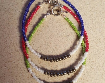 Multicolored Bead Bracelet Set of 3