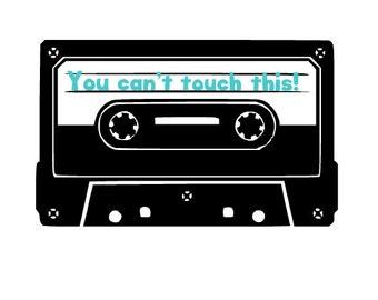 Customizable Casette Tape Lyrics Retro Decal - Customizable Mixtape Decal