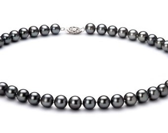 Black Freshwater Cultured Pearl Necklace 7-8 (MM)