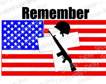 Military svg silhouette file / Army svg / Memorial day svg / Remembrance svg / US flag svg / Military svg / Military clipart / vinyl crafts
