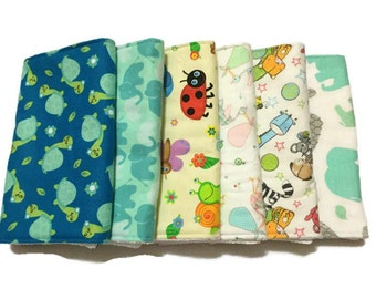 Baby Burp Cloths, Burp Rags, Set of 6, baby accessories, baby bibs, Changing Pad, Baby Gift, baby shower gift, baby girl gift, baby boy gift