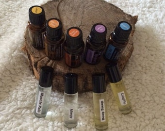 Lot of 4 Essential Oil Rollerball Remedies *Pick Your Own - Lots of Choices*