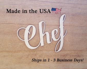 Chef, Kitchen Decor, Wall Art, Wood Kitchen Sign, Wood Sign, Housewarming Gift, Chef Decor, House Decor, Home Decor, Kitchen, LW1001